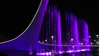 Вечернее шоу фонтанов в Олимпийском парке - невероятно красиво!