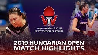 Shan Xiaona Vs Bernadette Szocs | 2019 ITTF World Tour Hungarian Open Highlights (R16)
