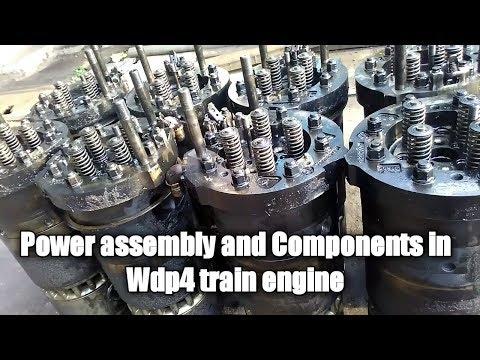 Power Assembly and various components of wdp hhp train locomotive