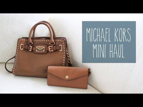 Michael Kors Rose Gold Mini Hamilton   Envelope Saffiano Crossbody • Mini  Haul   sarahhtranTV - YouTube 2eff86e027
