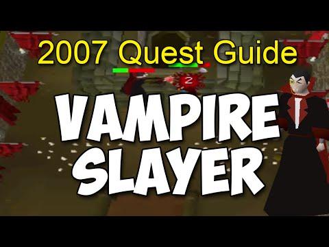 Runescape 2007  Vampire Slayer Quest Guide