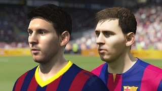 FIFA 15 vs FIFA 14 Faces - Barcelona | 1080p