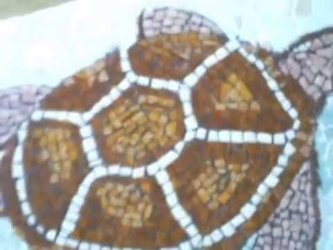 Como hacer un mosaico con ceramica facil y rapido youtube for Mosaico ceramica