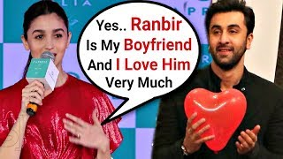 Alia Bhatt Confirms Her Relationship With Ranbir Kapoor To Media