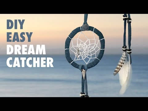 DIY Easy Dreamcatcher - How to make a Dream catcher (Ocean theme)