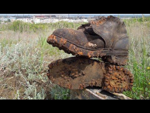 Коп в Сталинградском котле - ГОРНО-ЕГЕРСКИЕ ботинки / WW2 Stalingrad Battlefield Relics