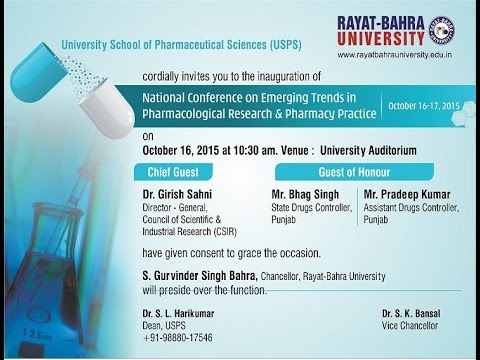 NATIONAL CONFERENCE ON EMERGING TRENDS IN PHARMACOLOGICAL RESEARCH & PHARMACY PRACTICE