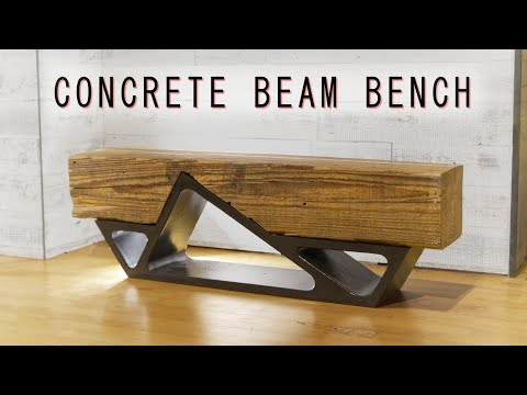 DIY Concrete & Reclaimed Beam Bench || How To Build