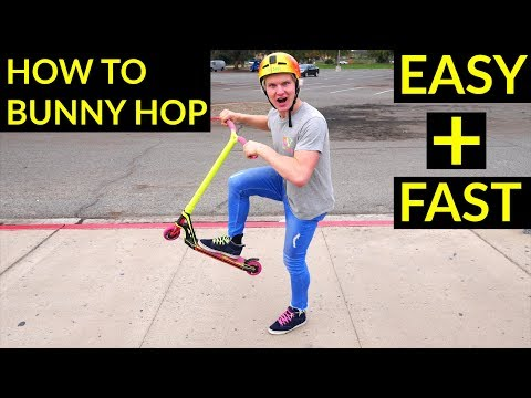 HOW TO BUNNY HOP ON SCOOER!