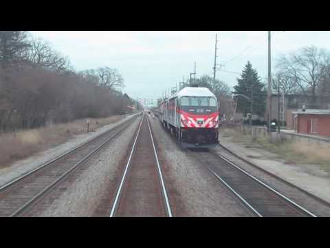 METRA North Central Service - OHare to Western Ave Express + Race!