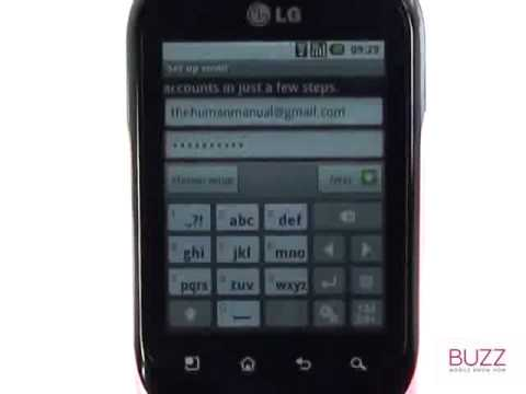 Email setup | LG Optimus Chat | The Human Manual
