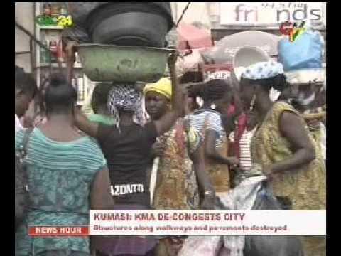 Kumasi Metropolitan Assembly decongestion exercise