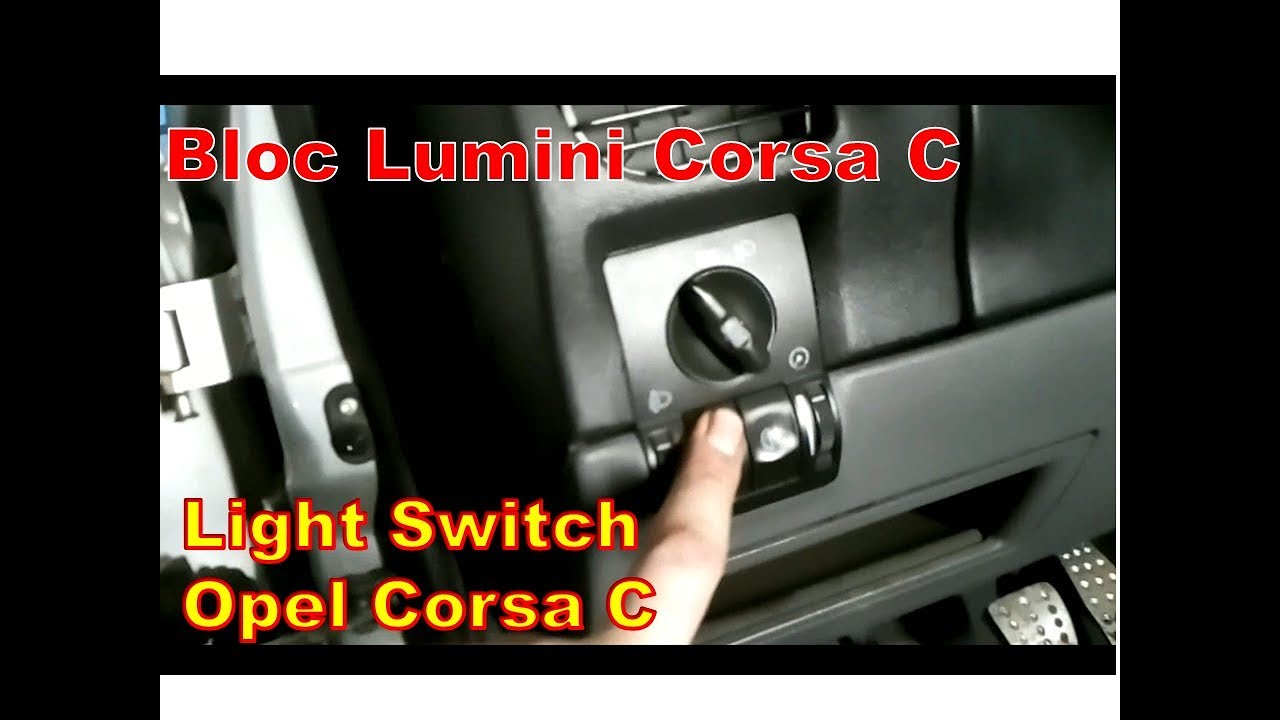 Bloc lumini Opel Corsa C - Replacing the Light Switch Corsa C
