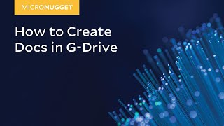 MicroNugget: so Erstellen Sie Google Docs in G-Laufwerk
