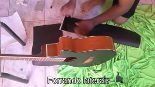 Como plotar (adesivar) um violão com preto fosco.