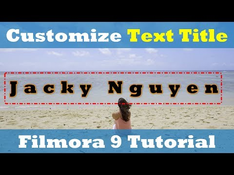 How to Create Unique Animated Text Title in Filmora 9 Advance Tutorial