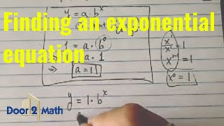 Bir Üstel Denklem bulun: b, y=ab^x thru geçerse*. 27 (-3,1/) ve (0,1).