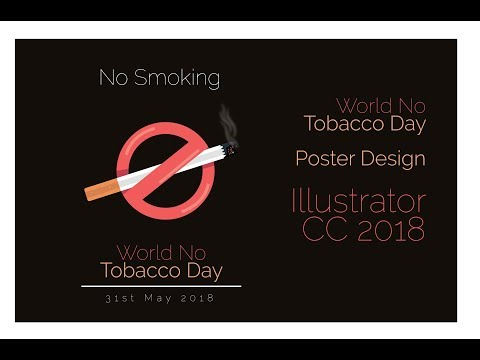 Illustrator Vector Art Tutorial | World No Tobacco Day Poster | Illustrator CC 2018
