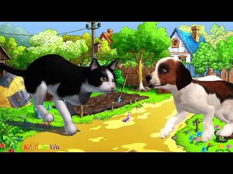 Cún Con Và Mèo Mi.. Nhạc Thiếu Nhi Vui Nhộn.. Kênh Bé Yêu