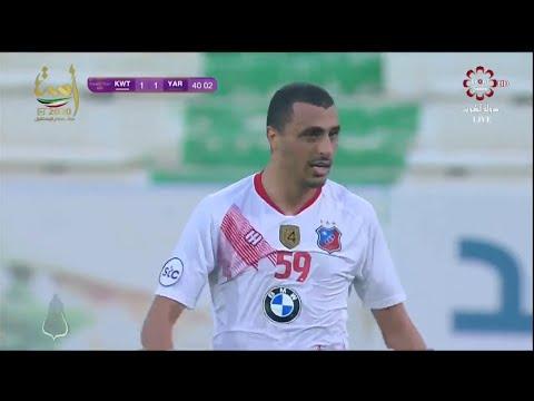 ثنائية أحمد العكايشي في أول مباراة له مع نادي الكويت في دوري التصنيف الكويتي