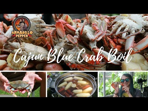 Blue Crab Boil With Cajun Seasoning In The Bayou Classic