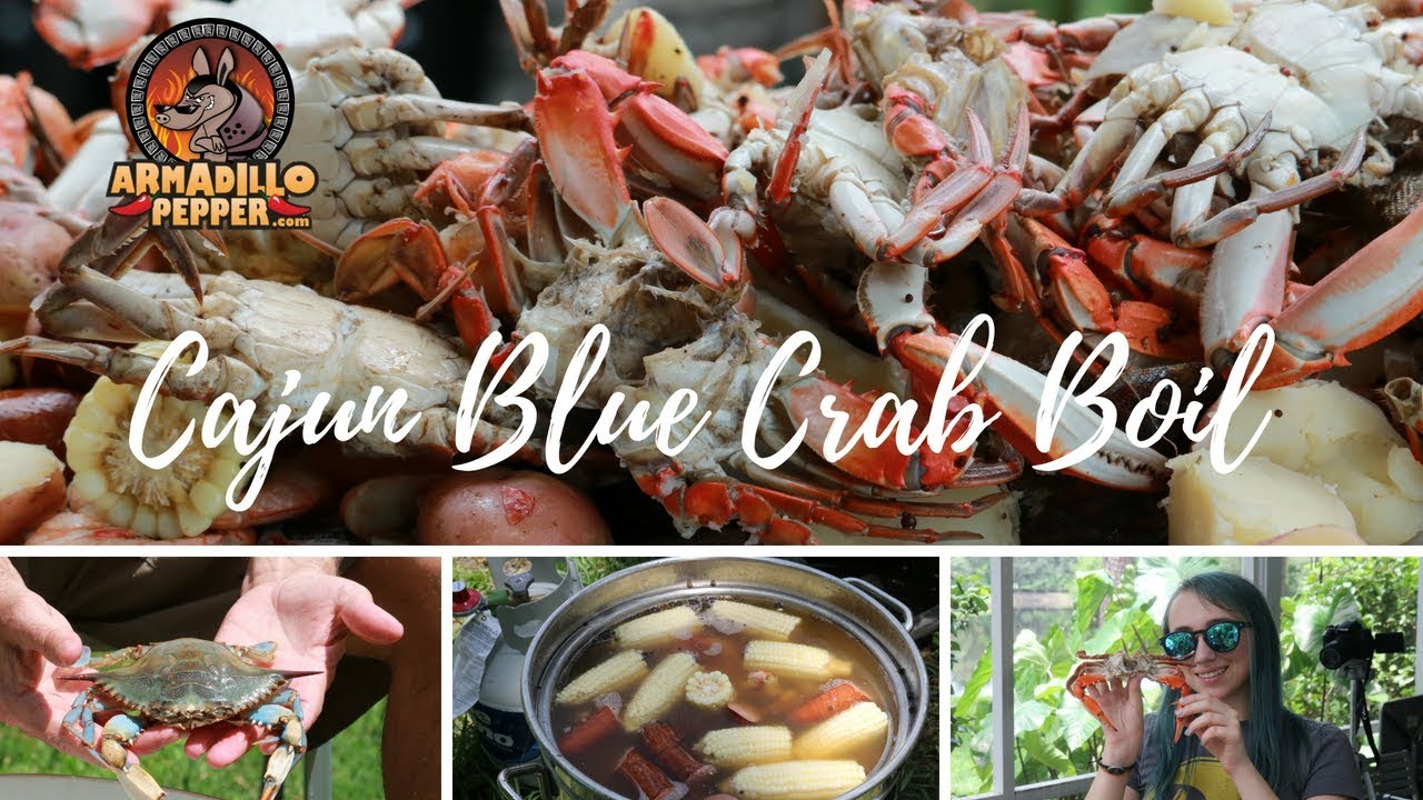 Blue Crab Boil With Cajun Seasoning In The Bayou Classic Youtube