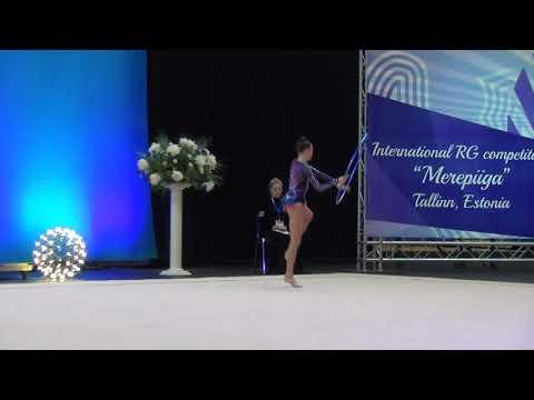 Adelina Beljaeva EST hoop junior Merepiiga 2017