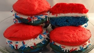 Patriotic Whoopie Pies (4th Of July Dessert) - With Yoyomax12