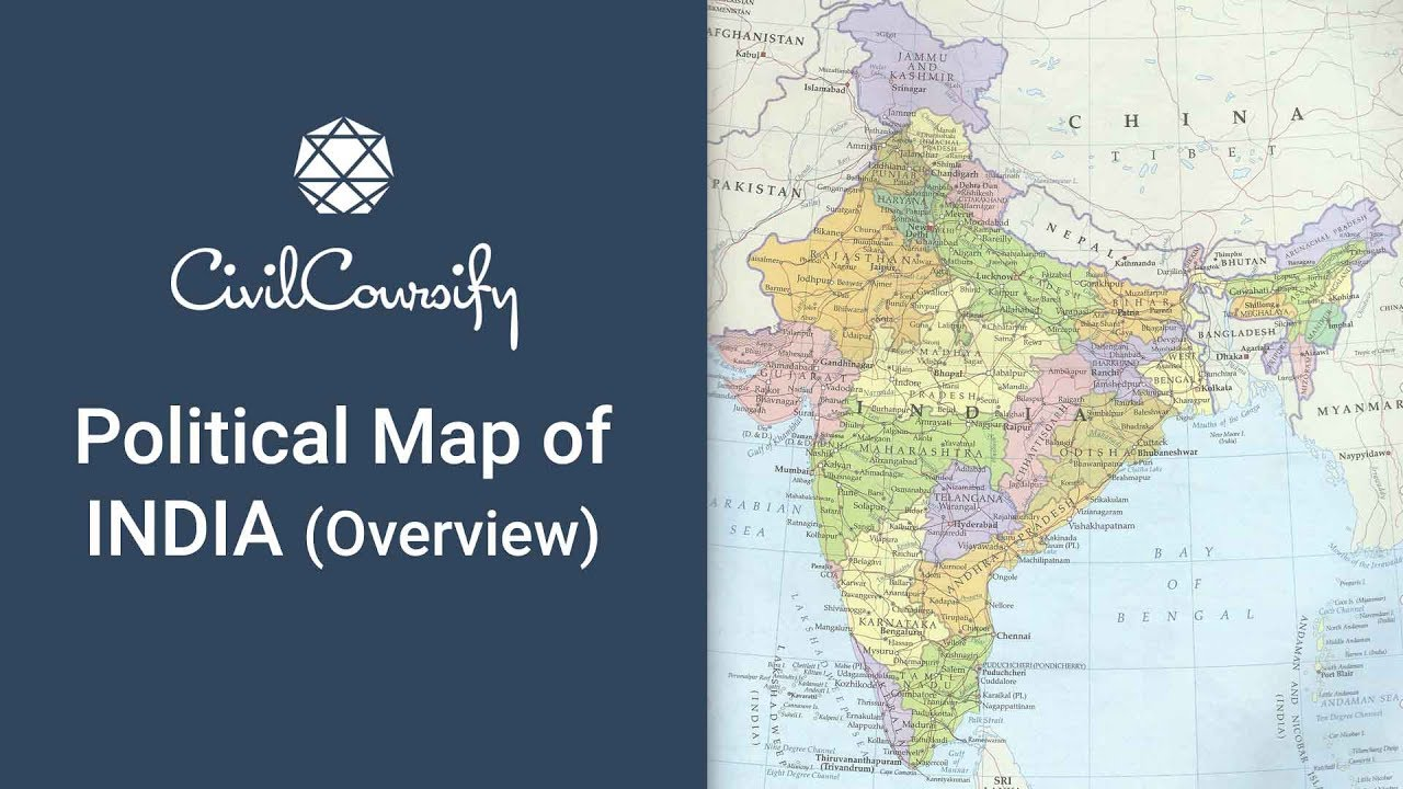 Political Map of India  Overview    Indian Geography  Mapping  Free     Political Map of India  Overview    Indian Geography  Mapping  Free Course