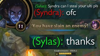 Sylas but he has to ask in /All Chat if he can steal someone's ultimate - League of Legends