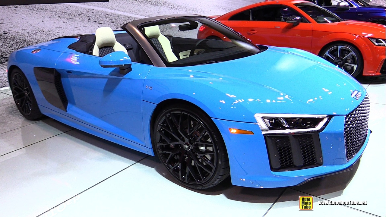 2017 audi r8 spyder exterior and interior walkaround. Black Bedroom Furniture Sets. Home Design Ideas