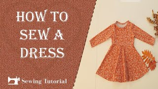How to Sew a Dress for Kids   Tutorial   DIY