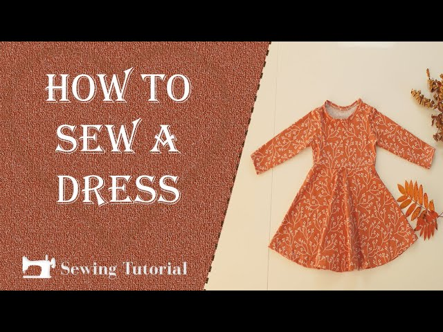 How to Sew a Dress for Kids | Tutorial | DIY