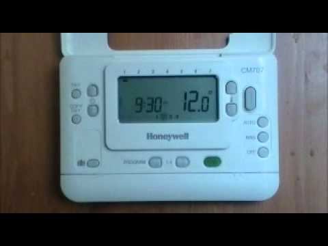 Honeywell cm707 digital programmable room thermostat user honeywell cm707 digital programmable room thermostat user demonstration from advantagesw youtube asfbconference2016