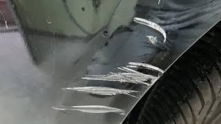 부산 기아 차량 K9 뒷범퍼 부분도색후 광택작업은 필수…