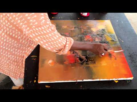 Abstract Painting Demonstration by Raju Durshettiwar