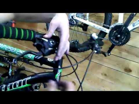 замена троса на переключателе горного велосипеда!