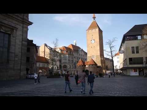 D: Nürnberg. Rundgang durch die Ludwigstraße, Ottostraße und Jakobsplatz. April 2018