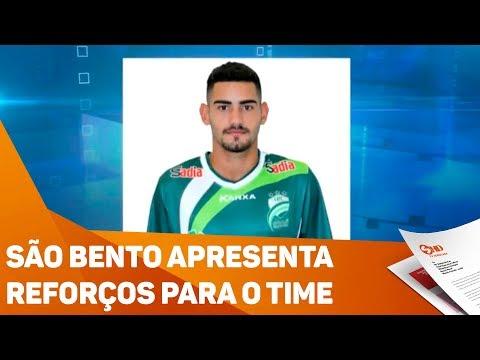 São Bento apresenta reforços para o time - TV SOROCABA/SBT