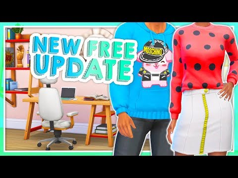 APRIL UPDATE!💚 // CAS + BUILD & BUY ITEMS | NEW LAPTOP & THE NICEST CLOTHES - THE SIMS 4 thumbnail
