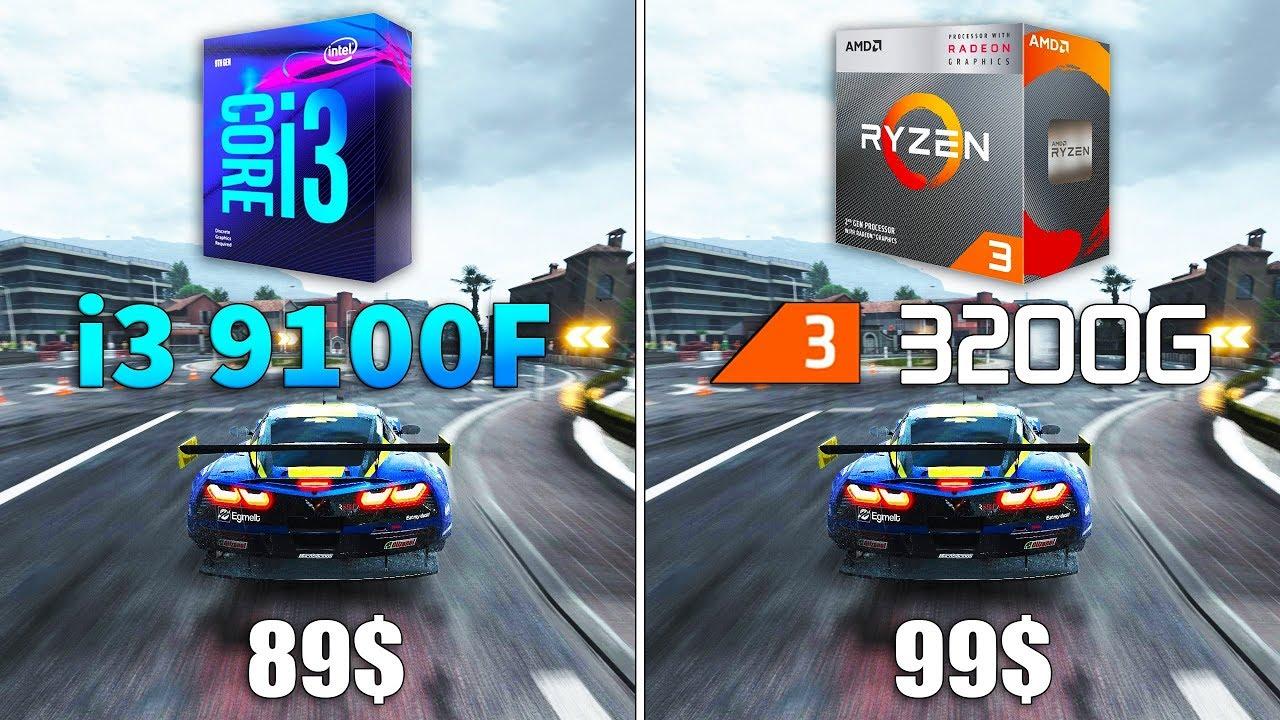 Ryzen 3 3200G vs Core i3 9100F Test in 8 Games