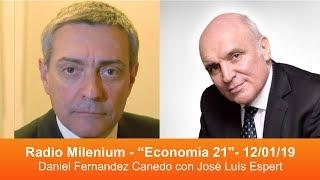 Jose Luis Espert con Daniel Fernandez Canedo por Radio Milenium - 12/01/2019