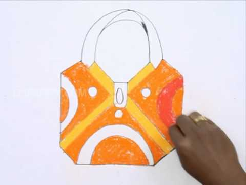 How To Draw A Hand Bag