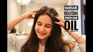 HAIR CARE ROUTINE | ONION HAIR OIL | AEGTE | HEALTHY N GLOSSY HAIR | SHIVSHAKTI SACHDEV