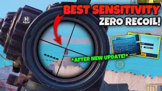 BEST Sensitivity For ZERO RECOIL After New UPDATE! | For iPhones, iPads & Androids | PUBG MOBILE