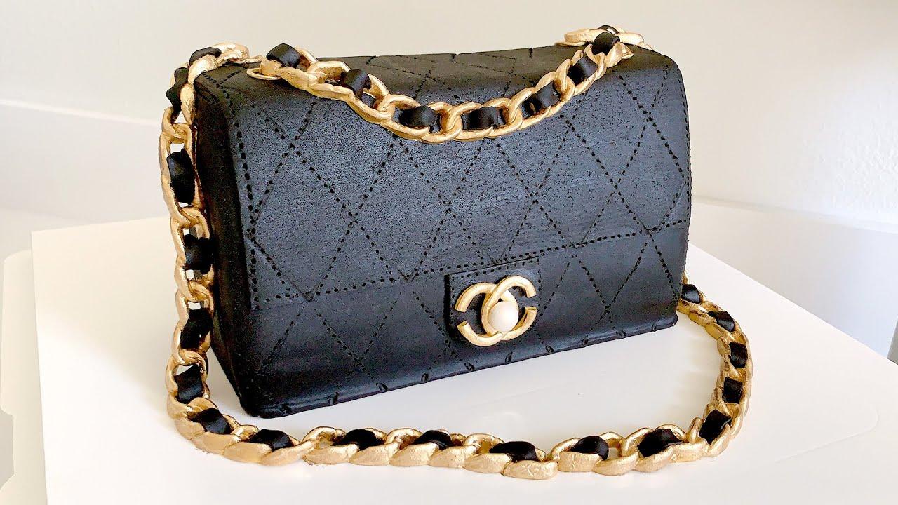 【翻糖进阶】手把手教你做 chanel 2.55 翻糖蛋糕 fondant Chanel 2.55 cake