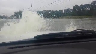Houston, TX Flooded Road 04-18-2016