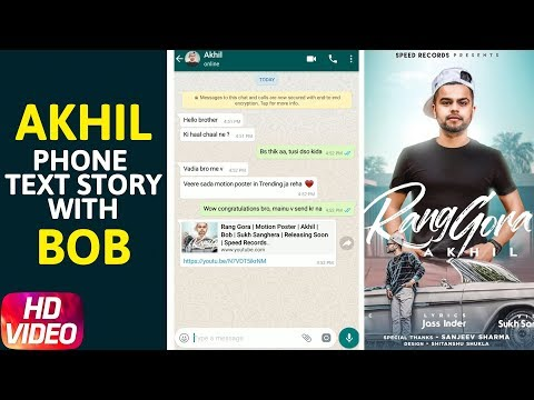 Phone Text Story | Rang Gora | Akhil | Bob | Sukh Sanghera | Releasing On 29th June | Speed Records