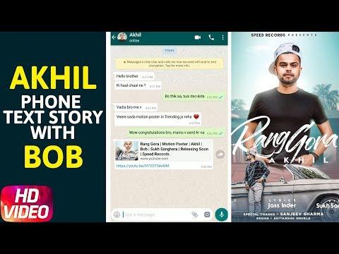 Phone Text Story | Rang Gora | Akhil | Bob | Sukh Sanghera | Releasing On 29th June | Speed Records