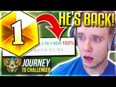 MY 100% WIN RATE CHAMP! HE'S FINALLY META AGAIN!! - Journey To Challenger | League of Legends